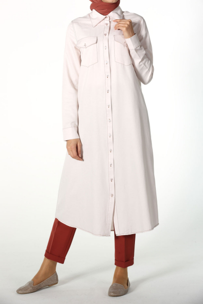LONG SHIRT TUNIC WITH POCKETS