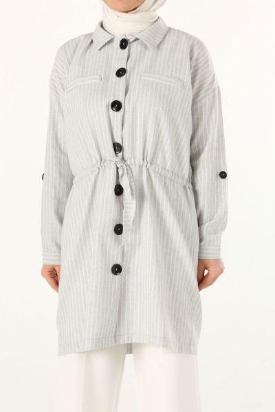 Belden Bağcıklı Gömlek Tunik