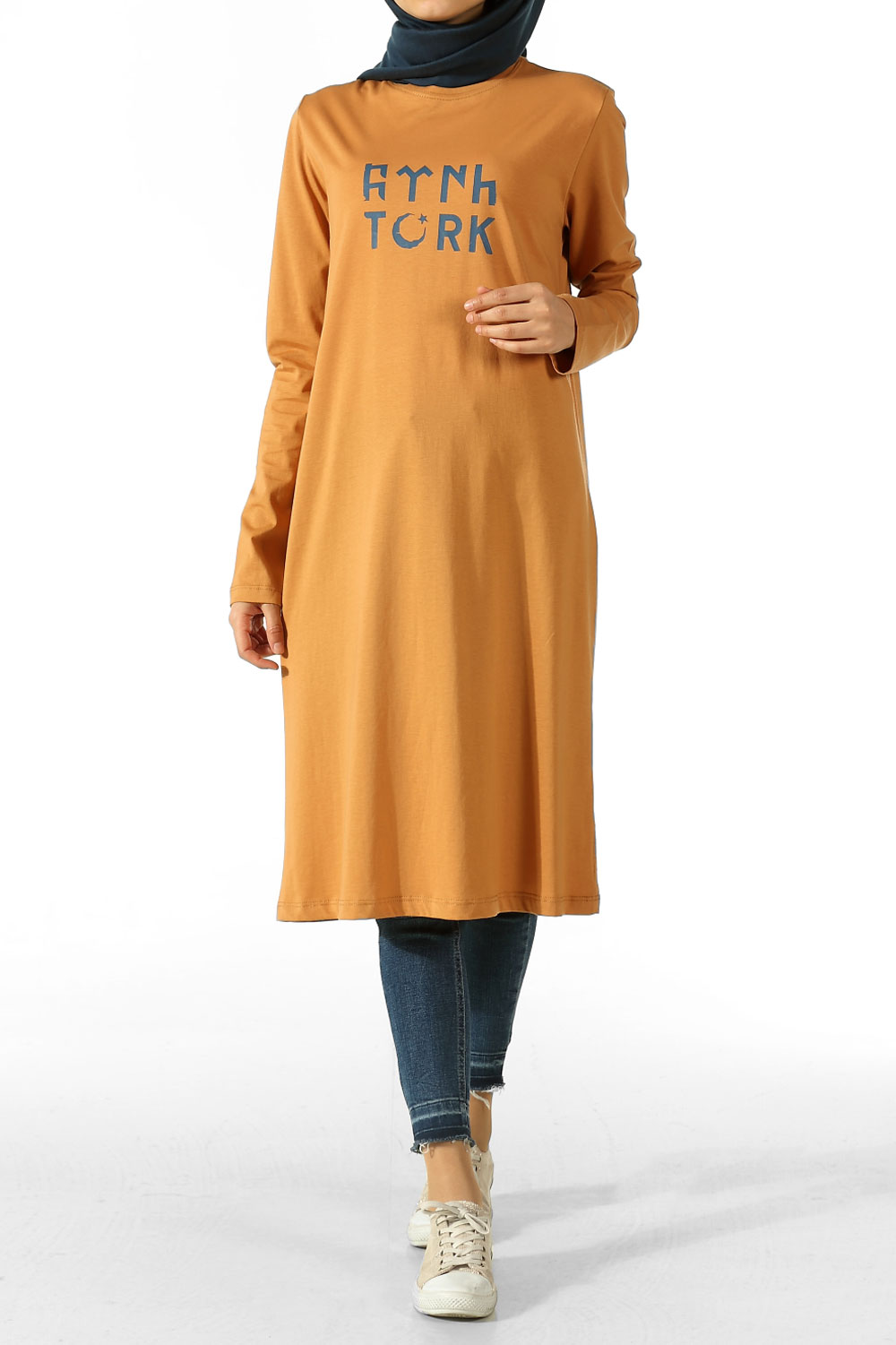 TÜRK PATTERNED COMBED COTTON TUNIC