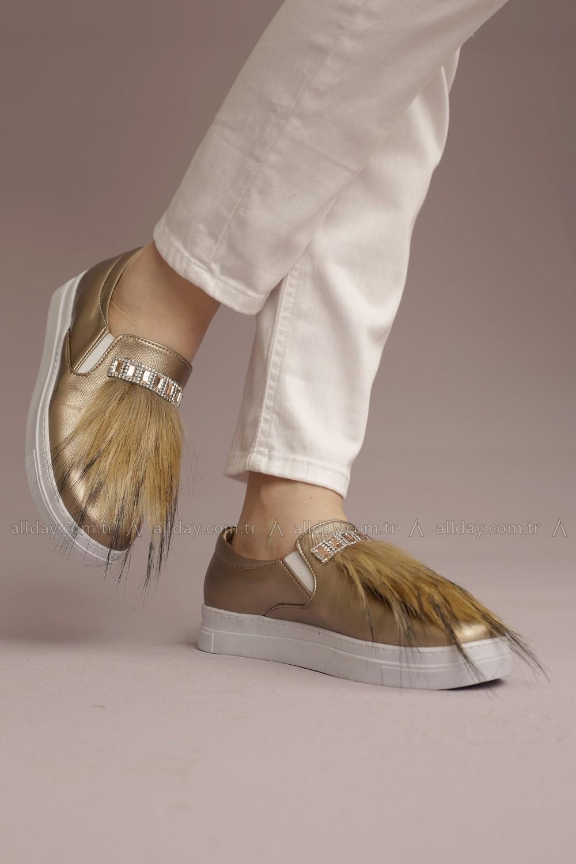 Allday 127 700 Kadın Bakır Tüylü Ayakkabı