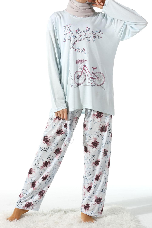 Üçlü Büyük Beden Pijama Takımı