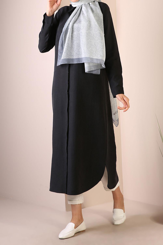 Tencel Basic Maxi Shirt Dress