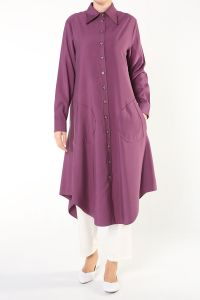 Buttoned Long Shirt Tunic