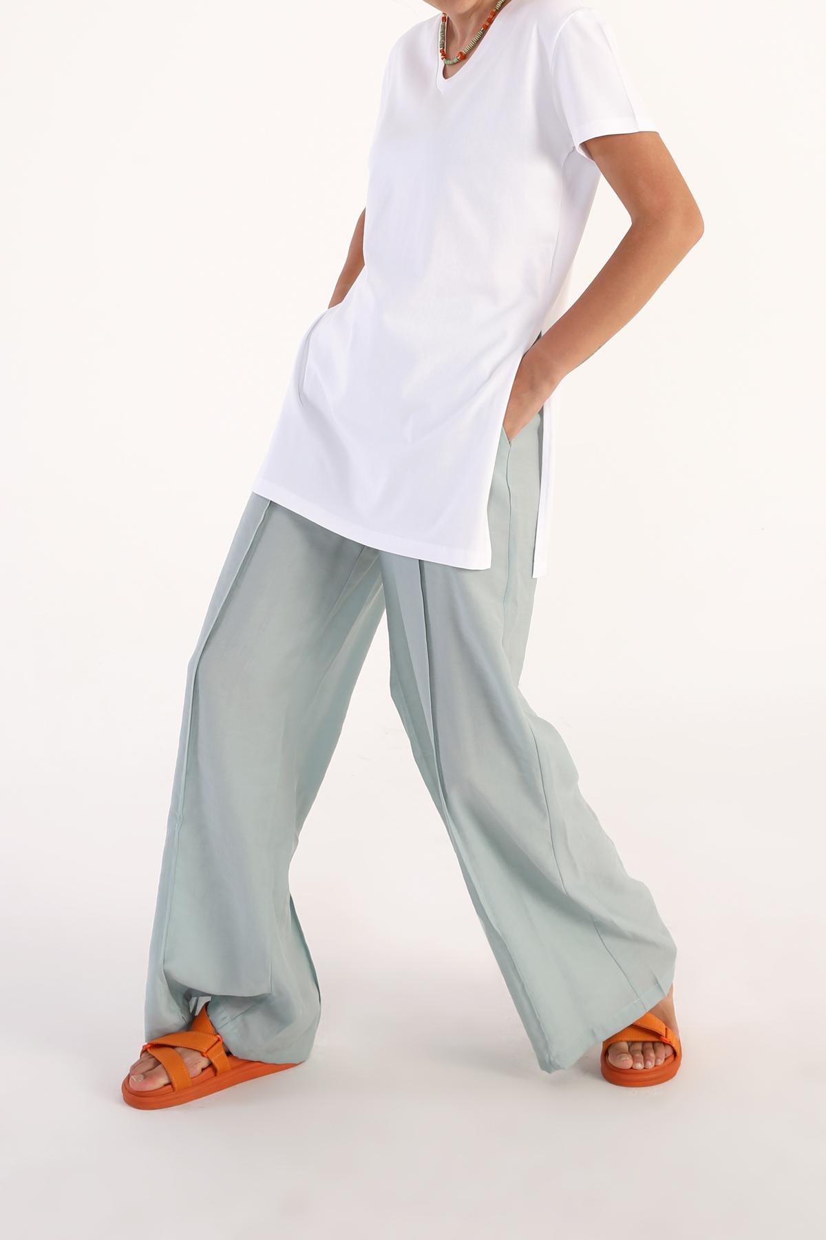 V Neck Basic Cotton T-shirt