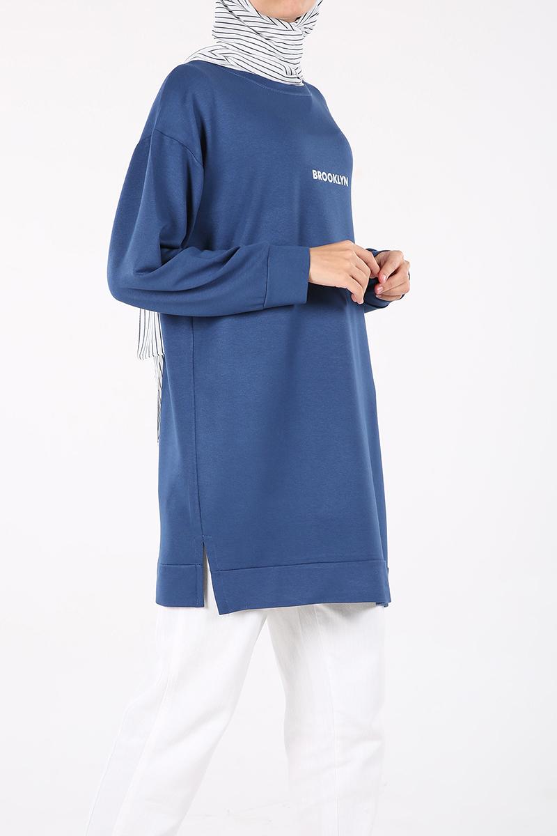 Printed Sweatshirt Tunic