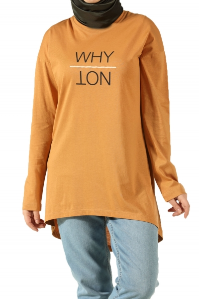 WHY NOT PRINTED COMBED COTTON TUNIC