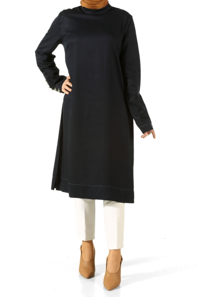 BUTTON SLEEVE TUNIC
