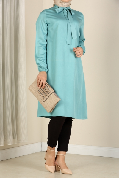 COLLORED EYELET TUNIC