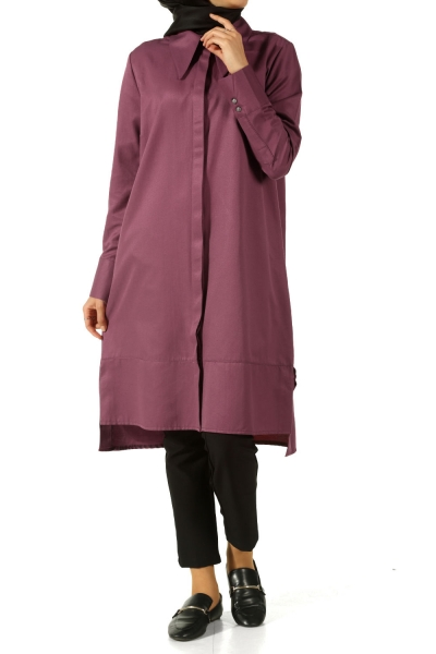 SLIT TUNIC WITH PLACKET