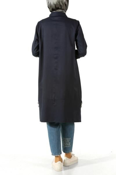 Patlı Yırtmaçlı Gömlek Tunik