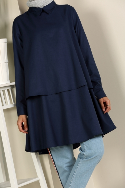 COLORED VOLAN TUNIC