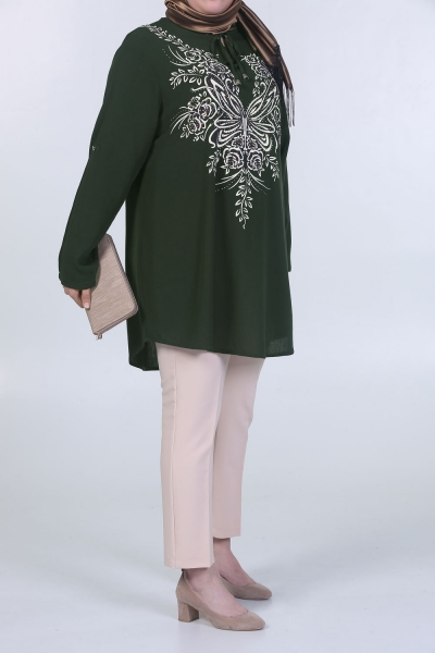 BORDERED BONDED FRONT DESIGNED TUNIC