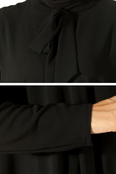 Yakası Bağcıklı Salaş Bluz