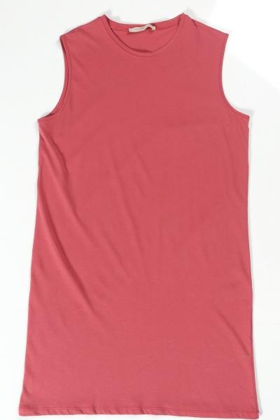 Pamuklu Kolsuz Basic Tunik