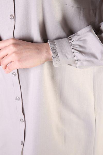 Yakası Kol Fırfırlı Gömlek