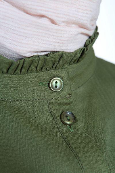 Yakası Kol Fırfırlı Gömlek Tunik