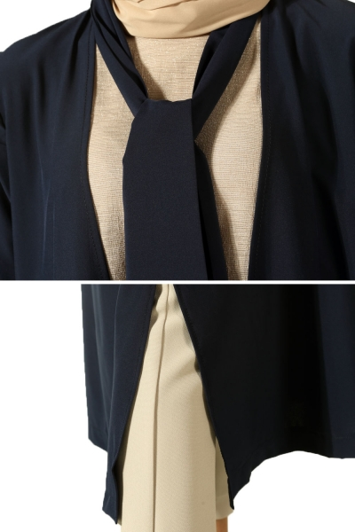 Cardigan with Belted Neck