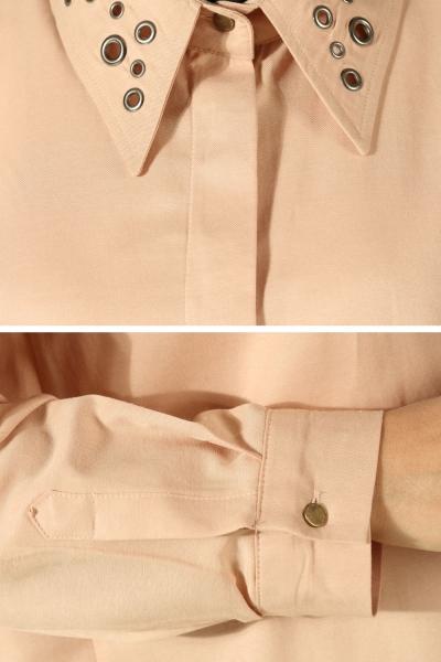 Yakası Kuşgözlü Gömlek Tunik
