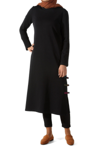 SIDE OBLIGATIONS COLORED BARBED PEN LONG TUNIC