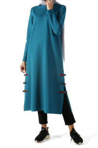 Side Split Combed Cotton Tunic