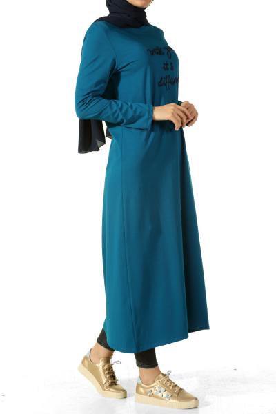 Side Button Combed Cotton Tunic
