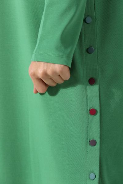 Yandan Renkli Düğmeli Penye Tunik