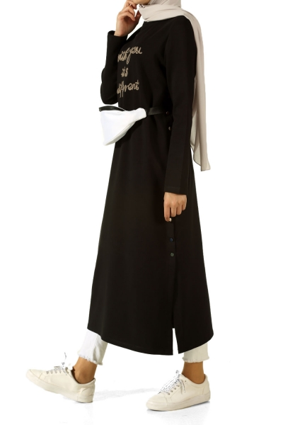 SIDE COLOR BUTTON TUNIC