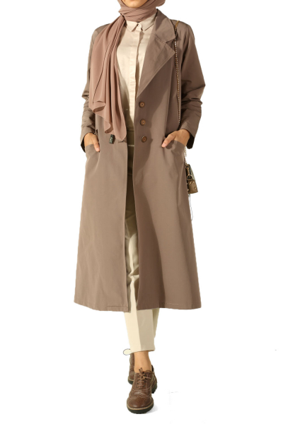 SIDE BUTTON TRENCH COAT