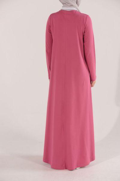 Yanları Şeritli Elbise