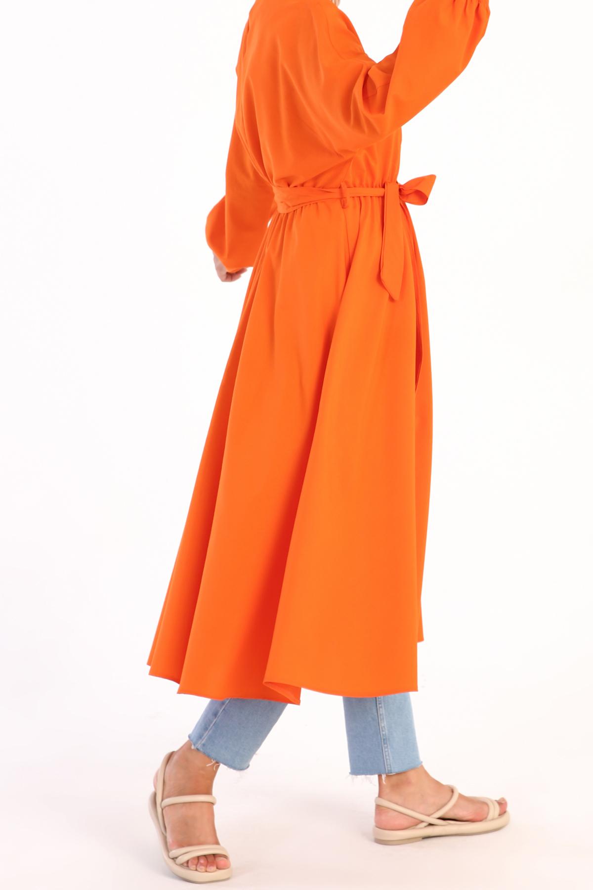 Yarasa Kol Pamuklu Uzun Tunik