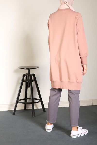 COMBED COTTON SWEATSHIRT TUNIC