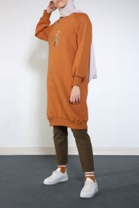 YARECE RAGLAN SLEEVE EMBROIDERED TUNIC