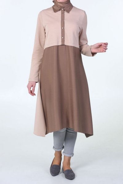 Half Placket Combed Cotton Tunic