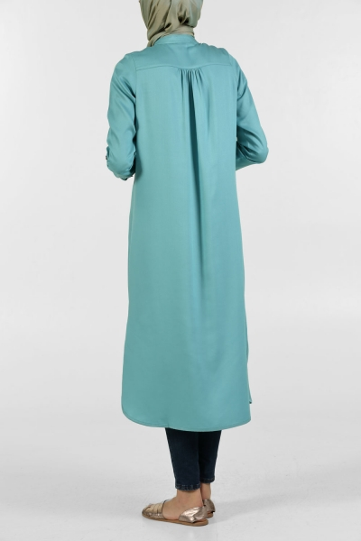 HALF PATRIED BUTTON TUNIC