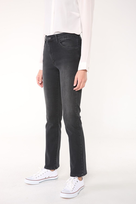 Yüksek Bel Boru Paça Pantolon