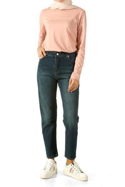 Yüksek Bel Kot Pantolon