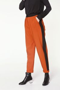 Yüksek Bel Garnili Pantolon
