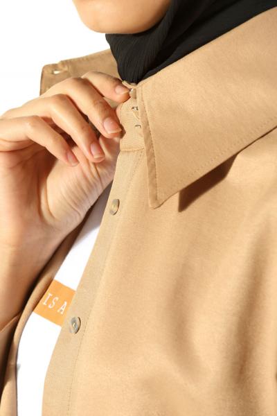 Yüksek Manşetli Gömlek