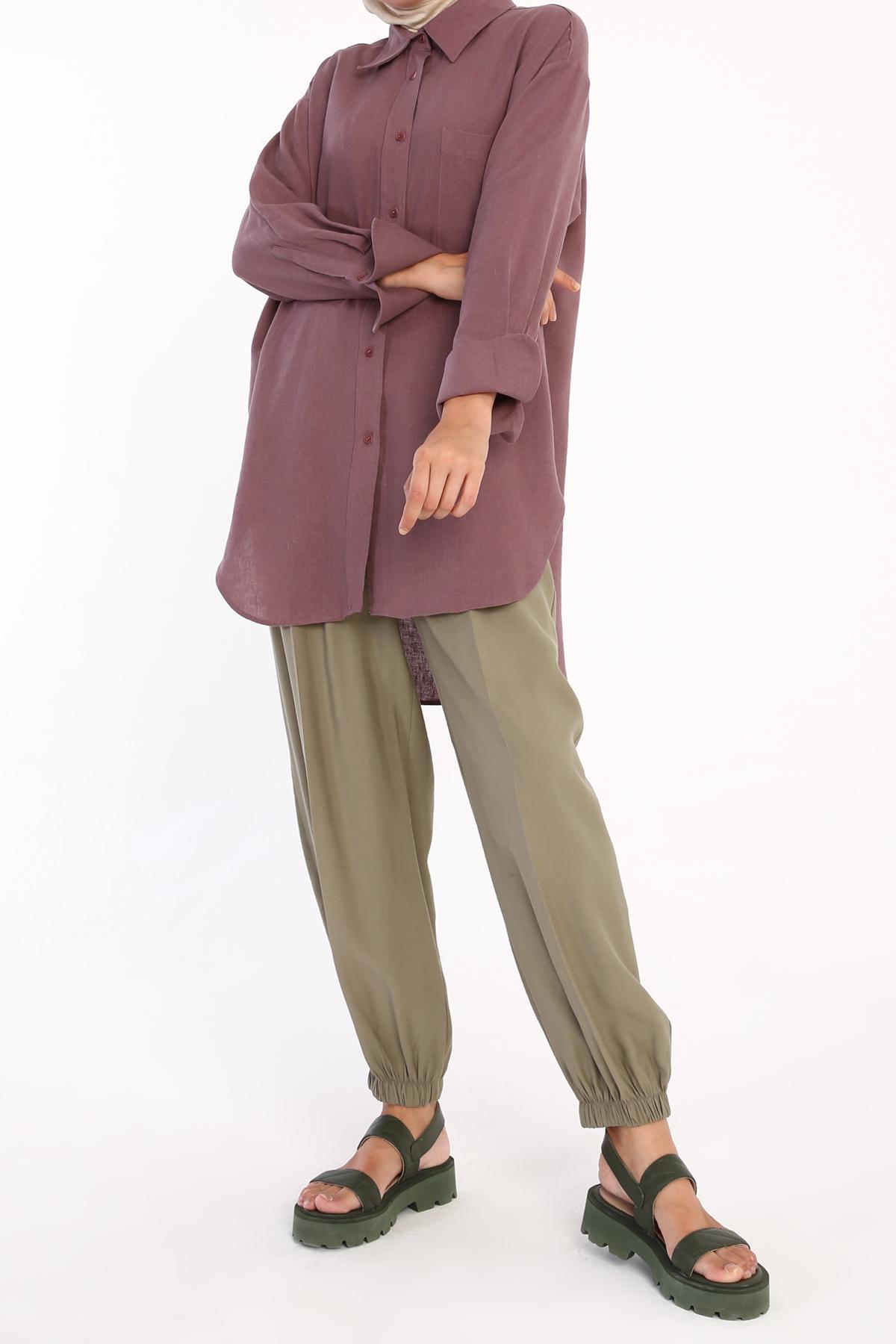 Oversize Linen Shirt Tunic