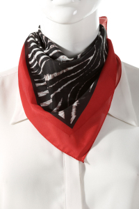 ZEBRA PATTERNED FOULARD