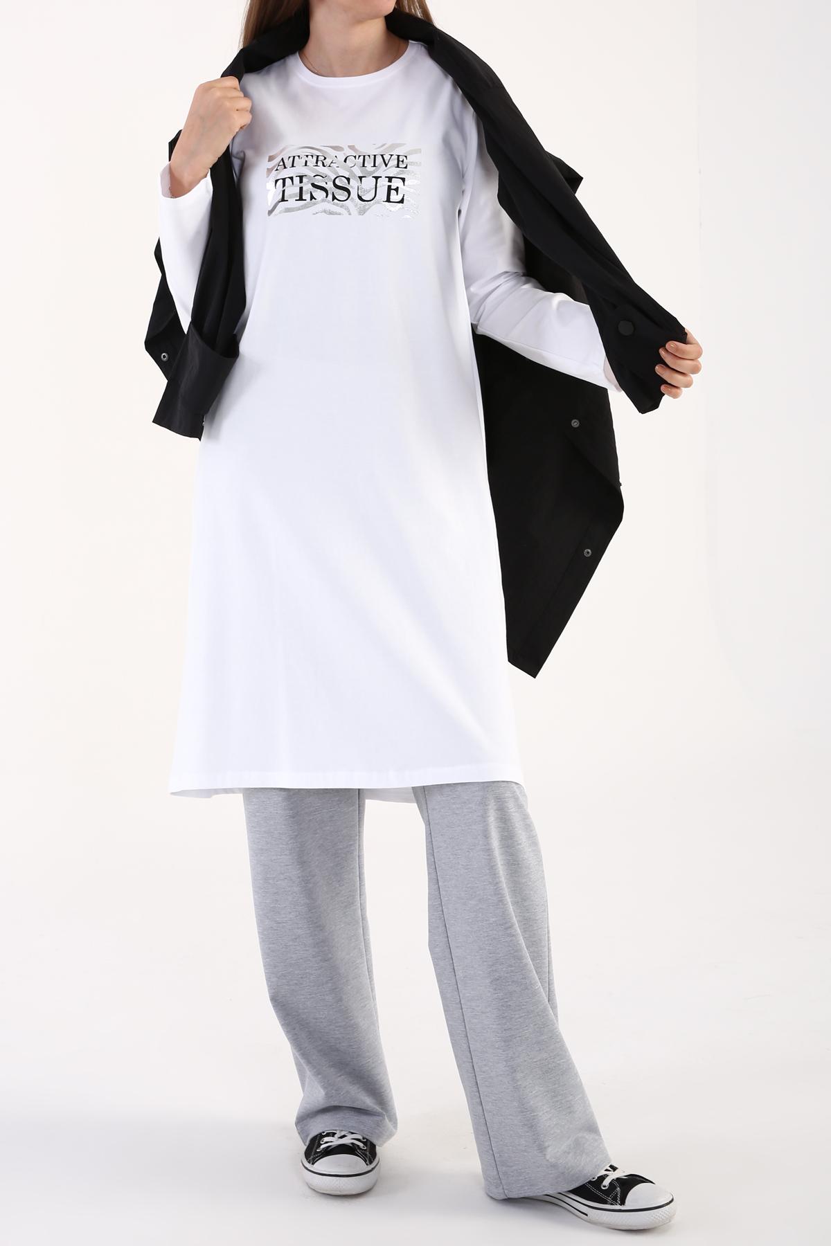 Zebra Printed Long Sleeve T-shirt Tunic