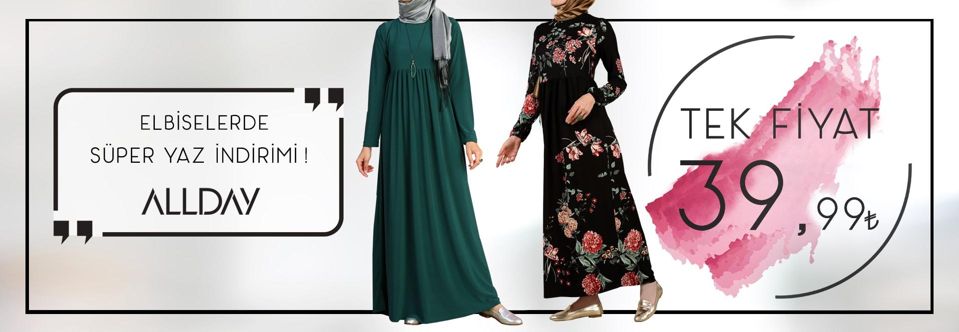 Tek Fiyat Tesettür Elbise