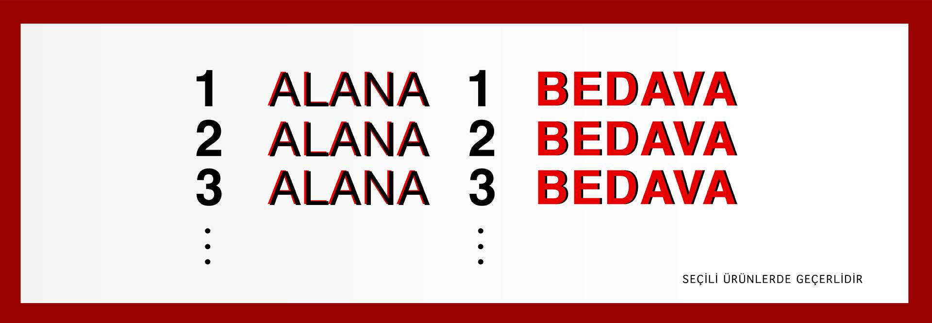 1 Alana 1 Bedava