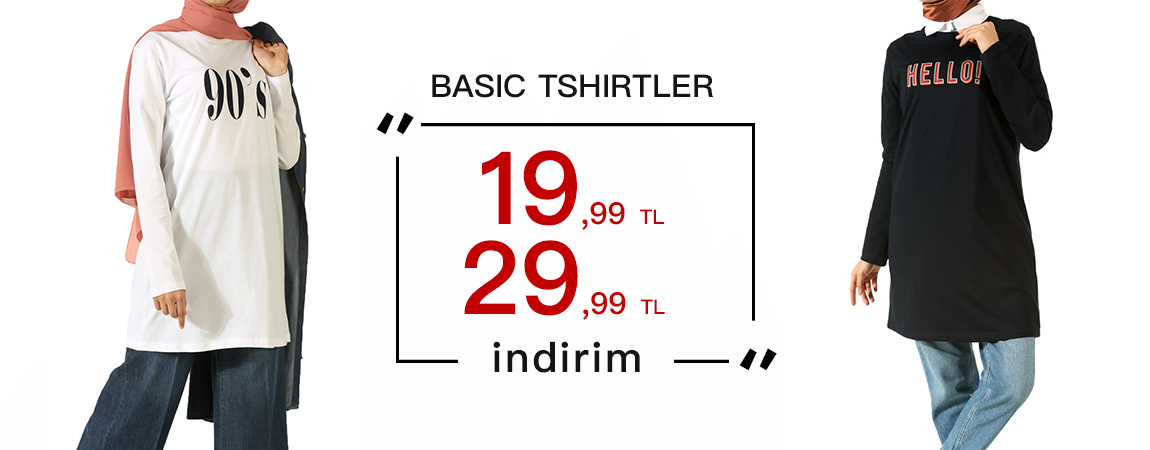 BASIC TSHIRTLER 19,99 - 29,99 TL