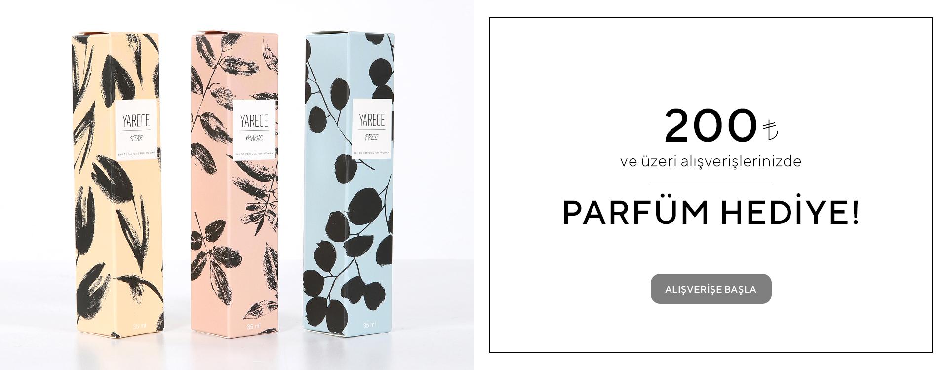 200 TL Üzeri Parfüm Hediye