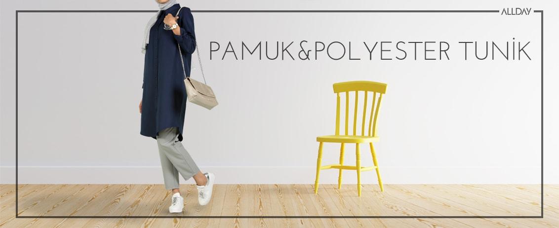 pamuk polyester tunikler